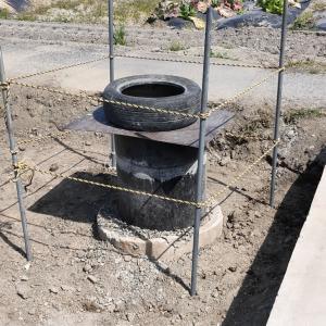 井水設備建屋の解体(松山市久米窪田町)