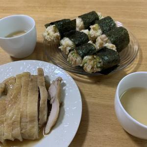 【料理】今日の昼食(自家製悪魔のおにぎり)