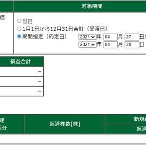 デイトレ結果(2021/04/27-28)