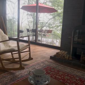 山の家 〜IKEAのガーデンtable &chair〜