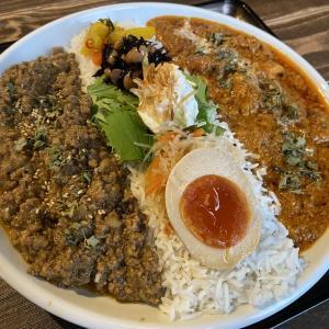 最近弘前によく行く👓が煮干結社弘前店でカレーを食べた
