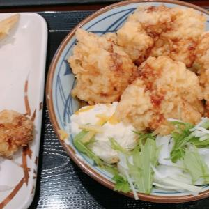 丸亀製麺で総選挙第1位の「タル鶏天ぶっかけうどん」を食べてきた