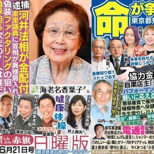 「赤旗」に室生佑月さん、浜矩子さん、山口二郎さんが登場 「宇都宮けんじ候補を応援します」