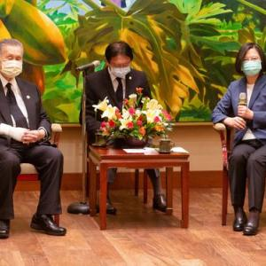 森元首相ら日本の弔問団が台湾の蔡英文総統と会談 同時に米国の長官も台湾入り 日米台同盟の様相に
