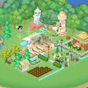 <前に書いたブログの訂正>ピグライフ「ふしぎな街の素敵なお庭」で水系タイトル上に家具が置けます!