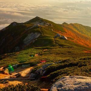奇跡!?奇石の空木岳・駒ヶ根高原スキー場から紅葉の空木岳を登る(後編)