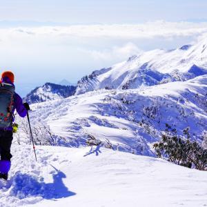 2020mの頂へ・冬の武尊山・剣ヶ峰山を登る