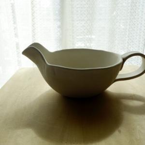 把手付き片口2★陶芸部で丸皿2枚