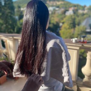秋ネイルと青空カット
