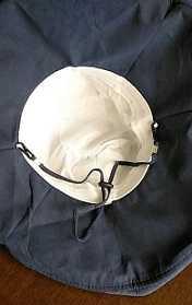 つば広帽子 首元も涼しい 99%以上UVカット
