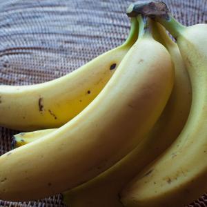 「バナナの房」自分の年賀状に撮った写真