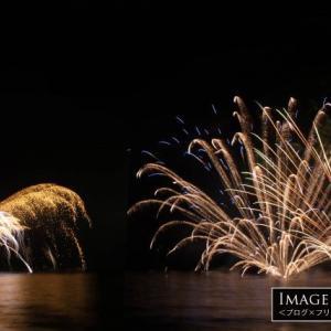 例年8/15に行われる岩地海岸の水中花火がすごくいい