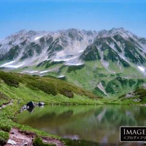 「立山室堂のミドリガ池」透明度の高い美しい池