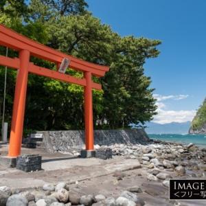 御浜岬の先端に建つパワースポット「諸口神社」