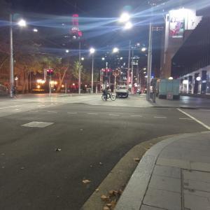先週末金曜夜のシドニー。