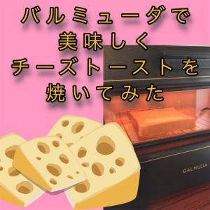 【最高の焼き加減を目指す!】バルミューダで美味しくチーズトーストを焼いてみた