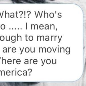 恩師へ、婚約報告