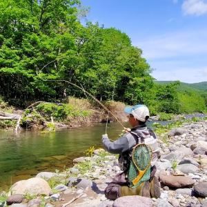 初渓流釣り 2021.6