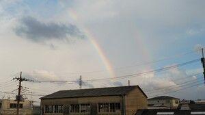 雨上がりに虹を見ました