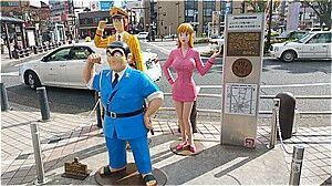 「こち亀」銅像シリーズ2@東京都葛飾区亀有駅付近