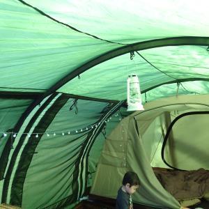【春キャンプ】夜のテント内ライト