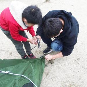 【初心者キャンプ】知らなかったペグが打てないほどの土の硬さ