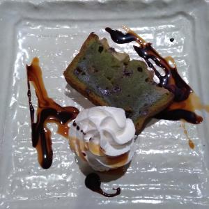 バナナとチョコと狭山茶のケーキ~MOJO