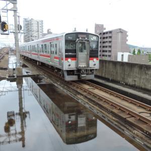 2020.7/11 とりてつ(予讃線 宇多津駅)~こんなところで水鏡!~