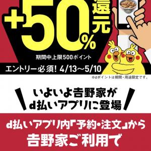 【予告】4/13~、50%還元再び!!これまたおトクすぎて嬉しすぎる☆