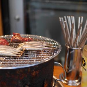 【野毛】野毛ホルモンビル大夢◆外席のハッピーミートアワーは1皿150円から