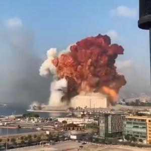 ベイルートで大爆発