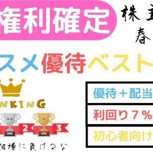 【オススメ】4月権利確定おすすめ優待ベスト7 株主優待春の陣!