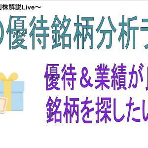 【お金返して!】6月のおすすめの優待株を探すライブ。(3回目)