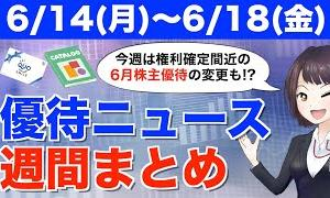 【お金返して!】【6/14(月)~6/18(金)】今週の株主優待ニュース(パーク24・白銅・日本商業開発・NATTY SWANKY)