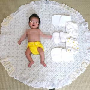 【1歳4ヶ月でおむつが外れるまで】布おむつサイズアップ編