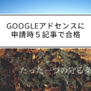 Googleアドセンスに申請時5記事で合格。セーフな条件と基準