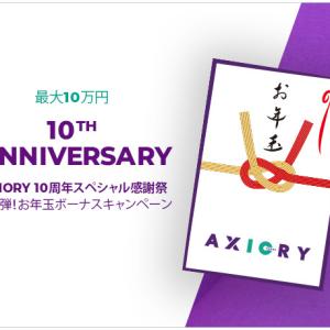 AXIORY 10周年スペシャル感謝祭 お年玉ボーナスキャンペーン 2021年1月1日から