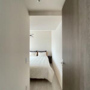 新しい照明の取り付けと夏の寝室インテリア