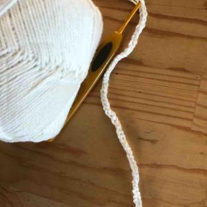 マスクゴム不足なので編んでみた