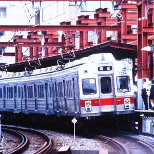 東急目蒲線不動前駅、20年以上前の光景