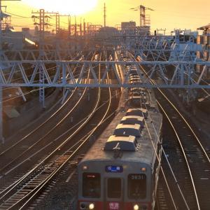 京成3600形、在りし日の夕景