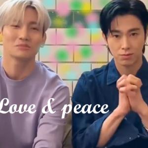 チェジュ航空に感謝m(__)mユノとチャンミンはやっぱ結論的にLove & Peaceだった。