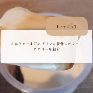 【ファミマ】ミルクとたまごのプリンを実食レビュー!カロリーも紹介