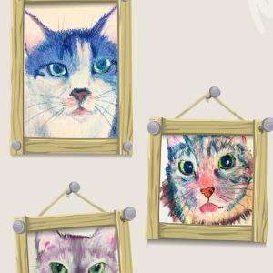 ペットからのお手紙(メッセージ)つき動物肖像画のオーダー受け付けを再開します