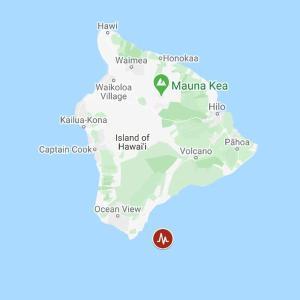 ハワイ島でマグニチュード4.7の地震を観測