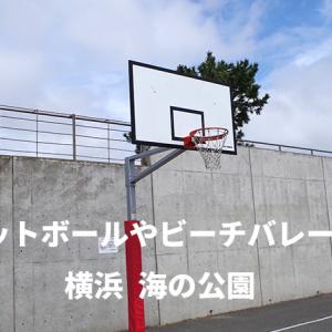 バスケットボールやビーチバレーができる公園 神奈川横浜の【海の公園】