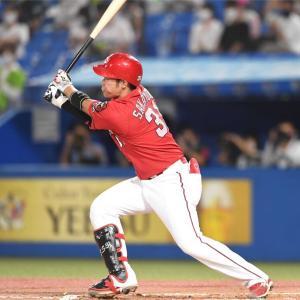 坂倉将吾◆27打席ぶりヒット 3割死守の一打「一本出たのは良かった」