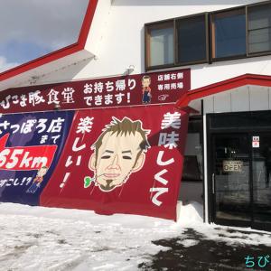 【森町】ひこま豚食堂で霜降り肩ロースのステーキ丼