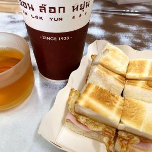 再び老舗カフェで朝食
