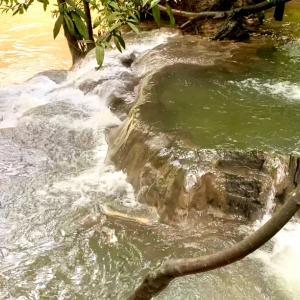 秘境リゾート地のジャングルの中にある天然露天風呂